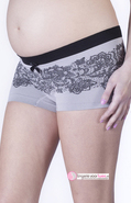 Short Illusion Lace Cache Coeur
